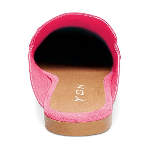 Heels Mules Flat Sandals Toe Slip Women Shoes Low Retro On Loafer YDN Closed Rossy Slide Shoes qwR1tWx