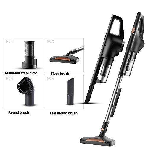 Aspirateur aspirateur, nettoyeur de tapis robuste, ultraléger, doux, faible bruit, amovible, 600W haute puissance verticale/portable (Édition : Package 1)