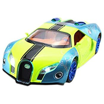 1:32 Diecast Car Model Bugatti Veyron Brand Car Model Pull Back Car(Green
