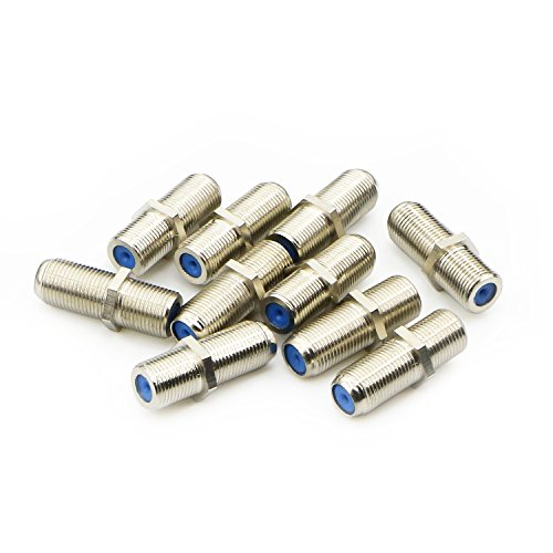 - Pasow F81 Barrel Connectors High Frequency 3GHz Female to Female F-Type Adapter Couplers (10 pcs)