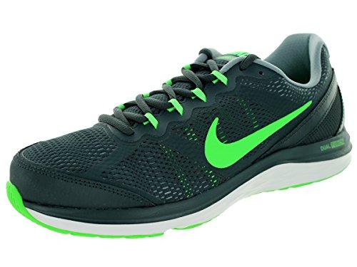 Nike Men's Dual Fusion Run 3 Clssc Chrcl/Psn Grn/Dv Gry/Whi Running Shoe 9 Men US