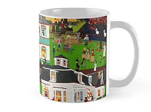 Army Mug Hocus Pocus, Halloween Folk Art, Salem MA Mug - 11oz Mug - Features wraparound prints - Dishwasher safe - Made from Ceramic - Best gift for family friends ()