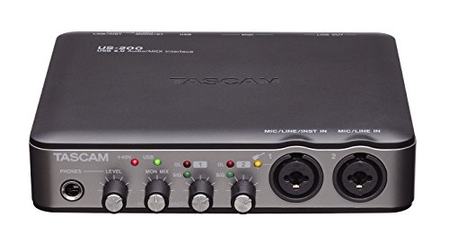 [해외]Tascam US-200 - USB 오디오 미디 인터페이스 USB 오디오 인터페이스/Tascam US-200 - USB Audio   Midi Interface USB Audio Interface