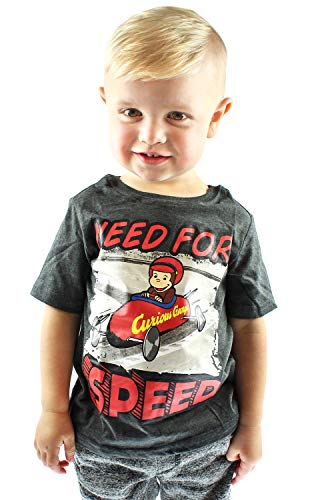 George Curious Yellow Infant T-shirt - Happy Threads Curious George Little Boys' Need for Speed Toddler T-Shirt (3T)