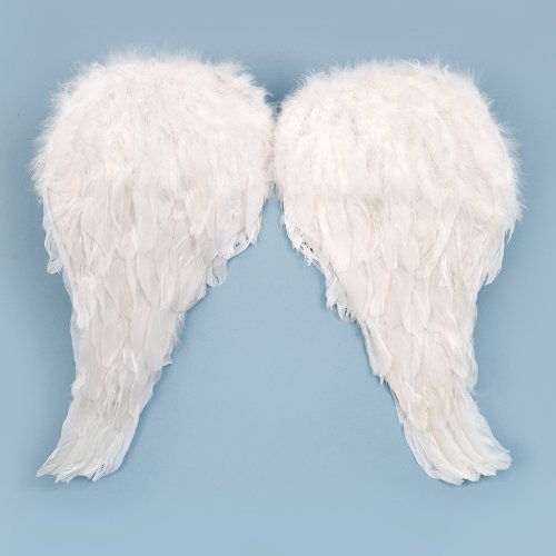Girls Soft Feather Child Angel Wings White One-size (Child Feather Wings)