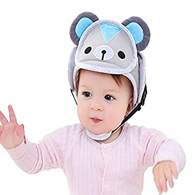 RANRANHONME Infant Protective Harnesses Baby Safety Adjustable Infant Head Protector Breathable Helmet for Toddlers Learn to Walk