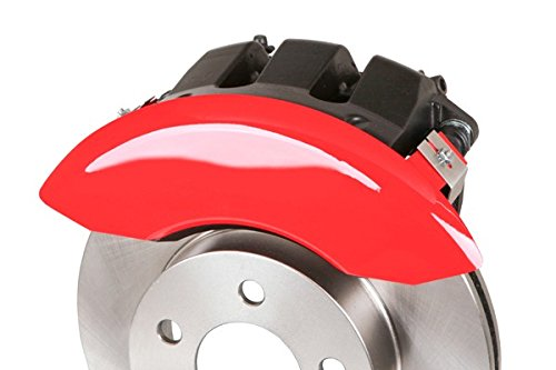 MGP Caliper Covers 36009SMGPRD MGP Engraved Caliper Cover with Red Powder Coat Finish and Silver Characters, Set of 4