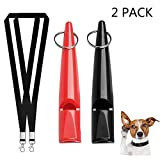KTjuce 2 Pcs 5900Hz Professional Dog Whistle for Training with Free Premium Quality Lanyard Strap