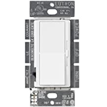 Lutron DVCL-153P-WH Diva Single Pole/3-Way CFL/LED Dimmer, White, 150-watt