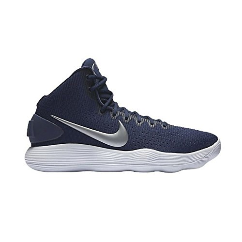 Nike Men's Hyperdunk 2017 TB Basketball Shoe Midnight Navy/Metallic Silver/White Size 11.5 M US