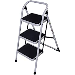 3 Step Lightweight Staircase Foldable Ladder HD Platform Stool 330 LB Cap Saving Little Space