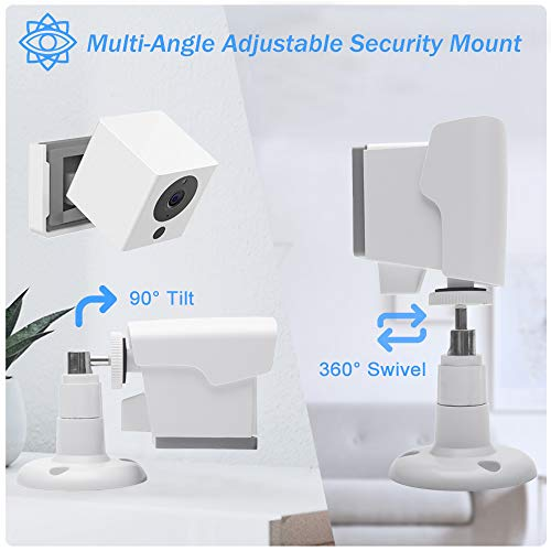 Wyze Cam Outdoor Mount, Weatherproof Wall Mount for Wyze Cam 1080p HD Camera, 360 Degree Protective Adjustable Housing & Mounting Bracket(White 2 Pack)