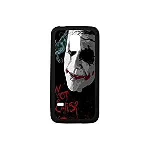 Powerful Protection Case[Multicolor Color Mix Design] (Black and White),Joker Pattern Hybrid Hard Soft Durable Plastic and TPU Case Armor Case Back Cover Case for Samsung Galaxy S5 mini