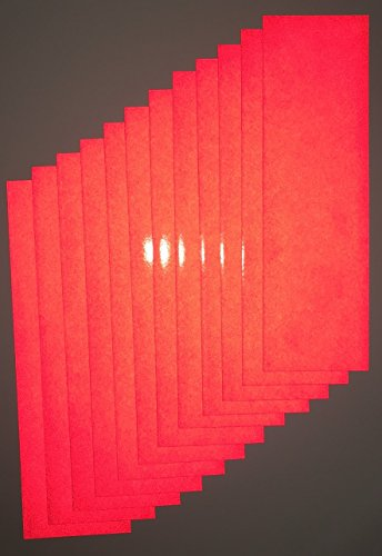 Motorcycle ATV Ruby Red Reflective Adhesive Vinyl Tape 12 Sheets of 3.5