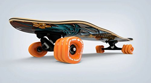 Shark Wheel Fathom Komoyo Cruiser Longboard Complete, Brown