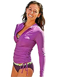 BeAllure Women's Swimming Shirt UV Sun Protection Long-Sleeve Rash Guards