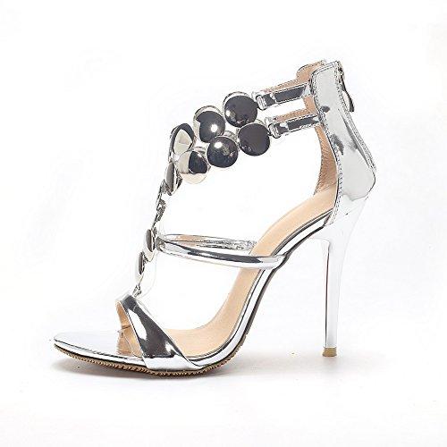Silver 35 Argento Aimint Donna EYR00275 Ballerine npqPH4
