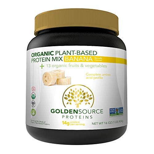 Cheap GoldenSource Proteins Organic Plant-Based Protein, Banana, 1 Pound