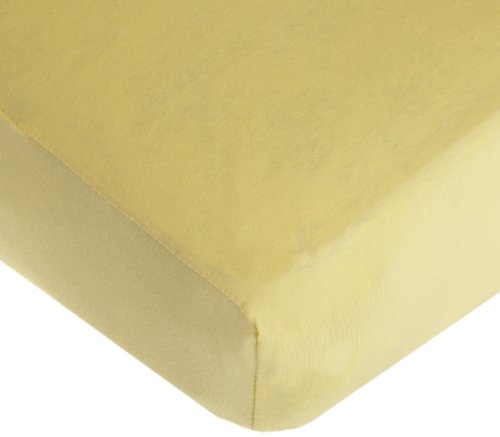 American Baby Company Supreme 100% Natural Cotton Jersey Knit Fitted Crib Sheet for Standard Crib and Toddler Mattresses, Maize, Soft Breathable, for Boys and Girls