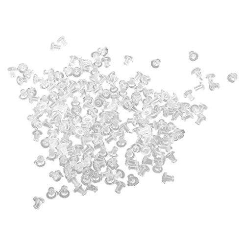 SODIAL(R) 200 PZ PAPILLON FERMETURE BOUCLES D'OREILLES PLASTIQUE MM 5