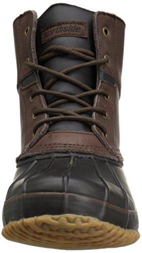 Northside Lewiston Men's Waterproof Lace-up Duck Boot Dark Brown INWLQ