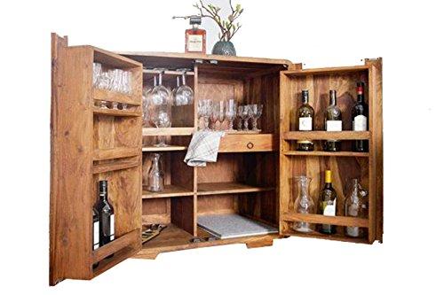 SNG Solid Wood Bar Cabinet (Natural) (Acacia)
