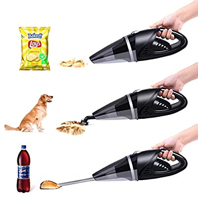 Explon Car Vacuum Cleaner - Handheld Portable, Corded Vacuum Cleaner, Powered by DC 12V Outlet of Car, Powerful High Power Wet and Dry Suction, 16ft Power Cord, 1 Extra Stainless Steel HEPA Filter: Home & Kitchen