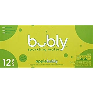 Bubly Sparkling Water, Apple, 12 oz, 12 ct