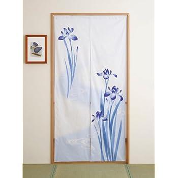 This Item Japan Cotton Pongee Long Type Noren Curtain Tapestry Japanese  Iris Design By Totas