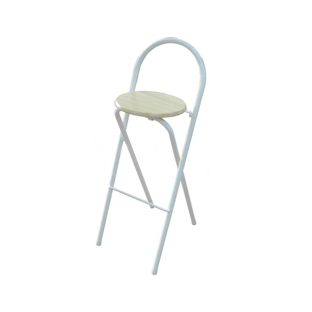 XUEPING 鍛鉄製の折り畳み式のバーのスツール/チェアホームキッチンレストランの椅子のスツール3色バースツール/椅子四季シングル/ダブルカウンターチェア (色 : B) B07DHNRW1TB