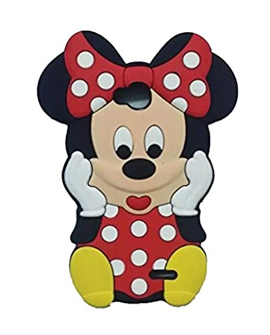 LS620 Minne Silicone Case,LS620 Animal Case,WGOOD Cute Animal Red Minne Mouse Soft Silicone Gel Rubber Protection Skin Case Cover for LG Realm (Disney Lg Realm Cases)
