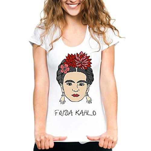 Amazon.com: Qian Mei - Camiseta de manga corta para mujer ...