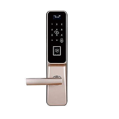 TONGTONG Smart Cerradura De Puerta Digital, Huella Digital Y Pantalla Táctil Sin Llave Inteligente Cerradura