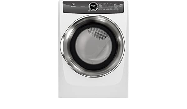 Electrolux EFME527UIW 27 Inch Electric Dryer with 8 cu. ft. Capacity, 8 Dry Cycles, in White