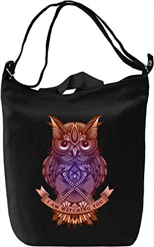 Colourful Owl Borsa Giornaliera Canvas Canvas Day Bag  100% Premium Cotton Canvas  DTG Printing 