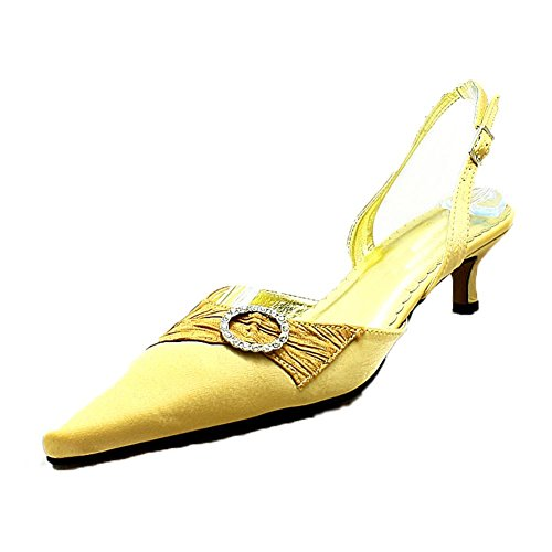 Bronze Evening Satin With Shoes Heel Kitten Ladies Pointed Toe q8pwtOqF7