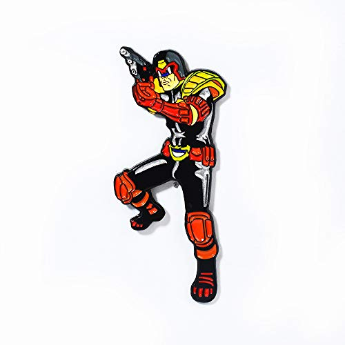 Judge Dredd 2000 AD Cult Movie Classic Collectible Pendant Lapel Hat Pin ()