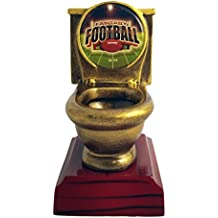 Decade Awards Fantasy Football Toilet Bowl Trophy | FFL Toilet Bowl Award | Loser Trophy | Toilet Bowl Award | 5 Inch - Free Engraved Plate on Request