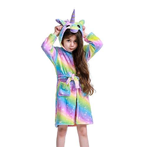 Unisex Children's Flannel Unicorn Bathrobes Hoodie Unicorns Gifts for Girls