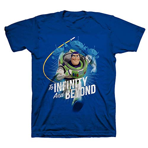 Toy Story to Infinity and Beyond Boy Short Sleeve Graphic Tee T-Shirt - Navy/4