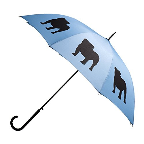 (English Bulldog Premium Rain Umbrella (Niagara Blue/Black) By San Francisco Umbrella Co.)