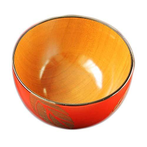 Japanese Nail Style Natural Wood Bowl Healthy Baby Rice-soup