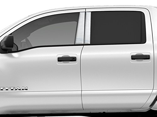 QAA FITS Titan 2016-2019 Nissan (4 Pc: Stainless Steel Pillar Post Trim Kit, 4-Door, Crew Cab) PP16523