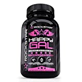Rockstar Happy Gal Supplement, Serotonin Production, Anxiety, Stress, Depression Relief, Supports Relaxation, 60 Count Review