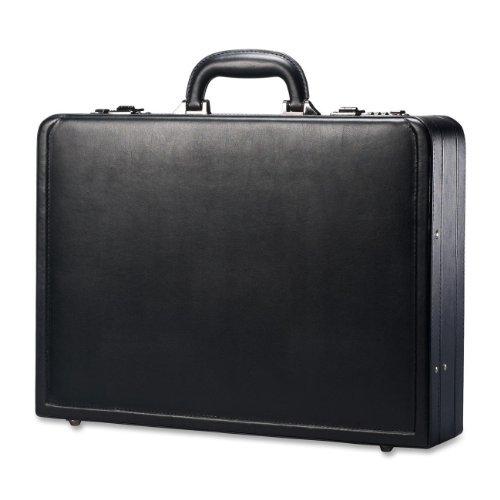 Wholesale CASE of 2 - Samsonite Bonded Leather Attache Case-Leather Attache, 17-7/8''x4-1/4''x13'', Black