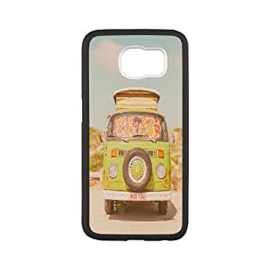 DIY Green Retro VW Bus S6 Cover Case, Green Retro VW Bus Personalized Phone Case for Samsung Galaxy S6 at Lzzcase