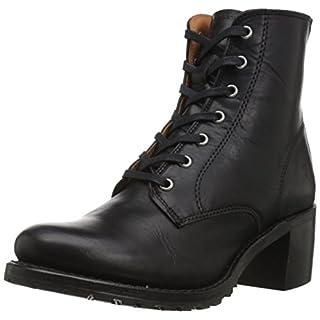 Frye Women's Sabrina 6G Lace Up Boot, Black Oil Tanned Full Grain, 9 Medium US