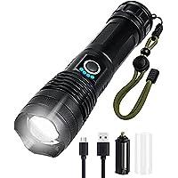 Lanterna Tática Militar LED de Alto Brilho Com Zoom, A Prova D'água para emergências, lanterna de acampamento, tocha de…