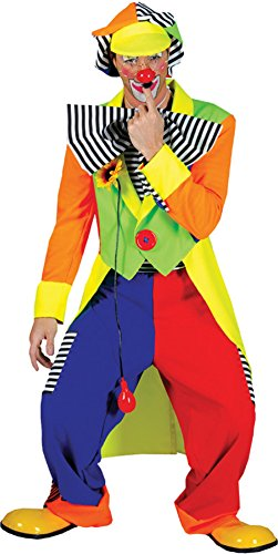 Spanky Stripes Adult Clown Costumes - Men's Spanky Stripes Clown