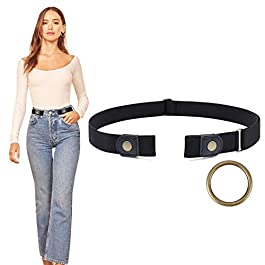 Buckle Free Belt Women Stretch Plus Size Belt No Buckle/Show Invisible Belt for Jeans Pants Dresses by WERFORU